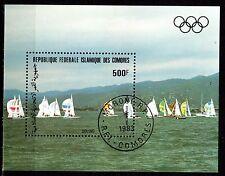 0127+  COMORES  BLOC  VOILIERS 1983