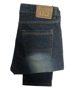 Boys Kids Jeans Denim Straight Leg Slim Fit Trousers Five Pocket Dark Blue Pants