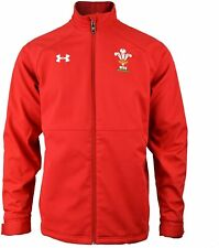 Under Armour Mens Wales WRU Players Sideline Jacket Red 1238128 Small