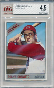 1966 O-Pee-Chee ROCKY COLAVITO Blank Back Error Cleveland Indians OPC BVG 4.5