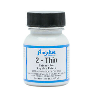 Angelus 2-THIN 1oz Bottle For Acrylic Leather Paint Thin To Use For Airbrush