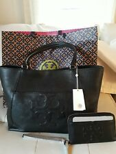 TORY BURCH 2 PCS SET BOMBE T EAST WEST Tote With Matching Wallet