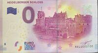 BILLET 0  EURO  HEIDLBERGER SCHLOSS  ALLEMAGNE  2017  NUMERO 100