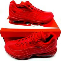 Nike Mens Air Max 95 Athletic Shoes Red CQ9969-600 Lace Up Low Top Sz 9 M New