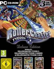 ROLLERCOASTER TYCOON 3 + 2 AddOns Wild + Soaked Deluxe TopZustand