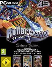 Rollercoaster Tycoon 3 + 2 Addons WILD + soaked Deluxe guterzust.