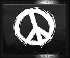 PEACE & and LOVE SIGN VINYL DECAL STICKER CAR WINDOW BUMPER TRASH hyppi
