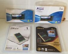 4 1GB CARDS 2 PNY 1GB DDR2 PC2-5300 & 2 A DATA 1GB 667 CARDS NEW