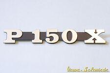 VESPA Emblème inscription Capot Latéral - P150X /P 150 x - PX / COUVERCLE CHROME