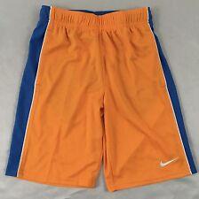 Nike Boy's Kids Youth Basketball Athletic Gym Shorts Blue Orange 724420 Size L