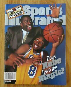 MAGIC JOHNSON & KOBE BRYANT 1st Sports Illustrated 4/27/98 Magazine No Label