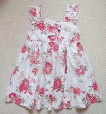 E-vie Angel Pink & Cream Floral Summer Dress (Size 3-4 Years)