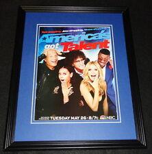 America's Got Talent 2015 NBC Framed 11x14 ORIGINAL Advertisement Howard Stern