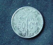 Munt Congo Belge/Belgisch Congo: 50 CENTIMES 1923 (franse legende)