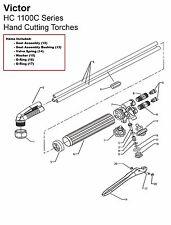 Victor HC1100C HC1131C HC1151C Bulldog Cutting Torch Rebuild/Repair Parts Kit