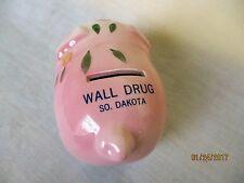 World Famous Wall Drug in Wall Sd Souvenir Ceramic Piggy Bank Decor Vintage