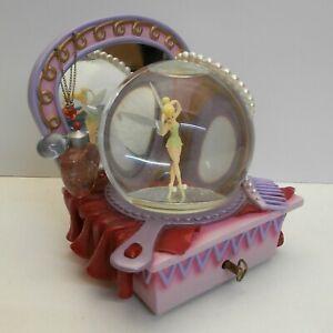 Disney Disneyland Paris Tinker Bell Snow Globe / Musical Fairy Mirror Pearl