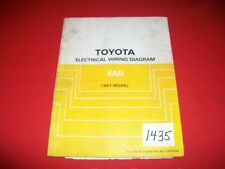 ORIGINAL FACTORY TOYOTA VAN 1987 ELECTRICAL WIRING DIAGRAM YR22,29,31,32 SERIES