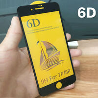6D Full Cover Tempered Glass Screen Protector Film Case For ihpone X 6/6P/7/8 P