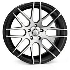 "19"" CADES ARTEMIS ALLOY WHEELS FITS VW GOLF PASSAT CADDY EOS SEAT BLACK POLISH"