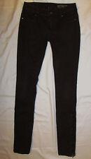 BLANK  skinny  jeggings dark burgundy wine  very stretchy  zipper leg   jeans 25