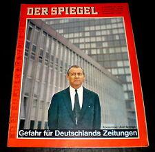 Der Spiegel 40/67 Titelbild: Axel Springer - Gefahr für Deutschlands Zeitungen
