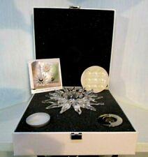 Swarovski Solaris Sun Crystal Tealight Taper Candle Holder $350 Nib