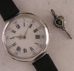 SUPERB ANTOINE a DIGOIN French 150 Years Old SILVER Wrist Watch A+ Just Serviced