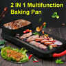 2 In 1 Multifunction Electric Hot Pot Barbecue Pan Grill Baking Non-Smoke Oven