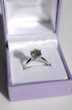 Moissanite White Gold Solitaire Engagement Rings