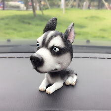 Bobble Head Siberian Husky Dog Figurine Model Home Car Dashboard Ornament Decor