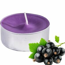 Spaas 4x Large Blackcurrant Scented Purple Tea Light Candles Indoor Or Outdoor 7