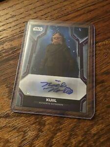 2020 Topps Star Wars Holocron Autograph Nick Nolte voice of Kuiil purple 10/10
