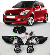 Fog Lights Lamps Complete Kit For Suzuki Swift 2010-2013 WITH FREE BULB