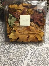 Pottery Barn Dried Fall Leaves Oak Vase Fill Display or Table Decor