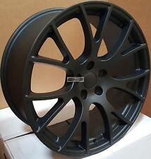 22 Rims Satin Black Wheels Hellcat Style Fit Jeep Grand Cherokee SRT8 Wrangler