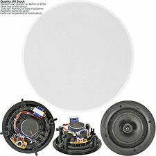 "QUALITY 6.5"" 100W 2 Way Low Profile Ceiling Speaker -100V & 8Ohm-Wall Mount Slim"