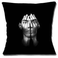 Mental Health Image Cushion Cover 16x16 inch 40cm Man With Hands Over Face Photo