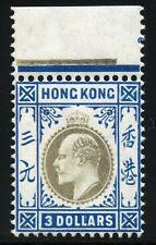 Hongkong 1905 King Edward VII. $3 Wmk Multiple Crown CA Margin Postfrisch MNH
