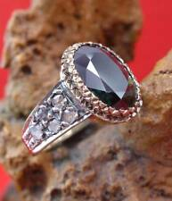 Antiker Saphir Diamant Damen Ring in 750 Gelbgold