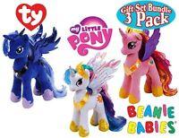 3-Pack TY My Little Pony Princess Cadence, Princess Luna & Princess Celestia NEW