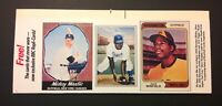 Baseball Card Magazine VTG 1989 Repli-Card Strip Mantle Robinson Winfield