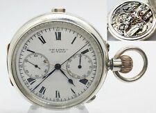 Pocket watch RATTRAPANTE split seconds chronograph solid silverBENSON