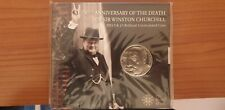 MONETA 5£ 2015 Crown INGHILTERRA 50 ANNI MORTE CHURCHILL. FDC.