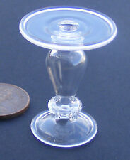 1:12 Scale Clear Fine Glass Cake Stand Dolls House Miniature Food Accessory G16c