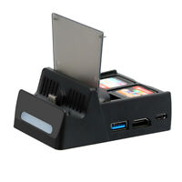 Charging Dock Station Bracket With HDMI Video Converter for Nintendo Switch
