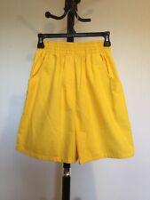 New Women's Bobbie Brooks Elastic Waist Yellow Cotton Culottes Short Size S/CH