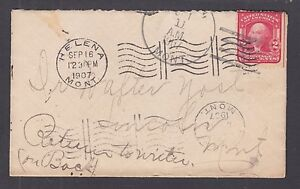 "US Sc 319 on 1907 cover Helena - Lincoln, Montana, m/s ""Return to Writer"""