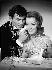 ROMY SCHNEIDER HORST BUCHHOLZ Champagne Fête Cotillons Téléphone Photo 1957