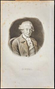 Portrait (1835) - Baron David of Purry - Neuchâtel - Swiss - Engraving